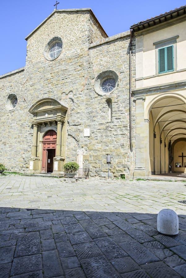 科尔托纳,阿雷佐,托斯卡纳,意大利,欧洲,大教堂 库存图片