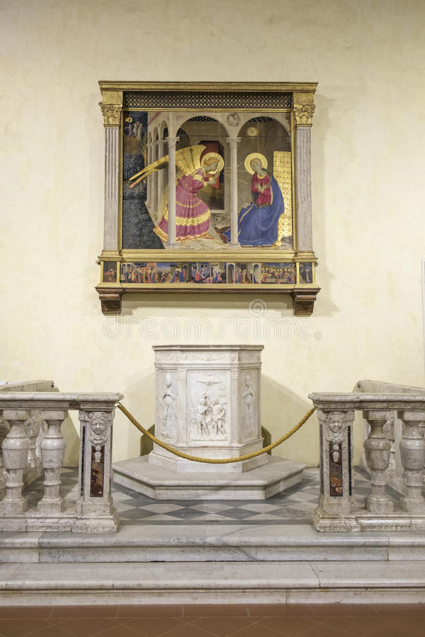 科尔托纳,阿雷佐,托斯卡纳,意大利,欧洲,主教管区的博物馆 免版税库存照片