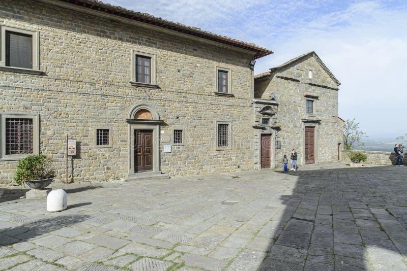 科尔托纳,阿雷佐,托斯卡纳,意大利,欧洲,主教管区的博物馆 库存照片