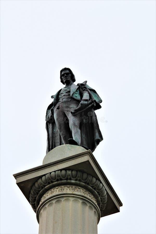 科尔霍恩纪念碑南卡罗来纳 免版税库存照片