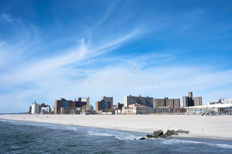 科尼岛全景纽约 库存照片