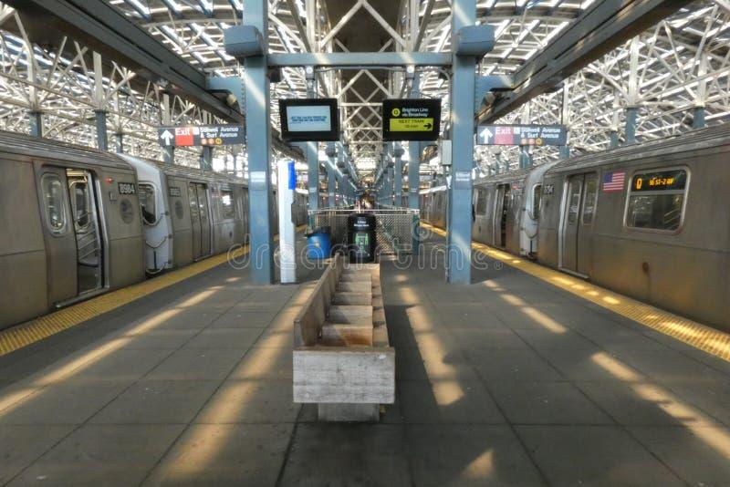 科尼岛地铁站 免版税库存图片