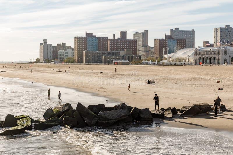 科尼岛海滩在纽约 免版税库存图片