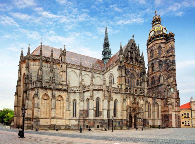 科希策,圣伊丽莎白,斯洛伐克大教堂  免版税库存照片