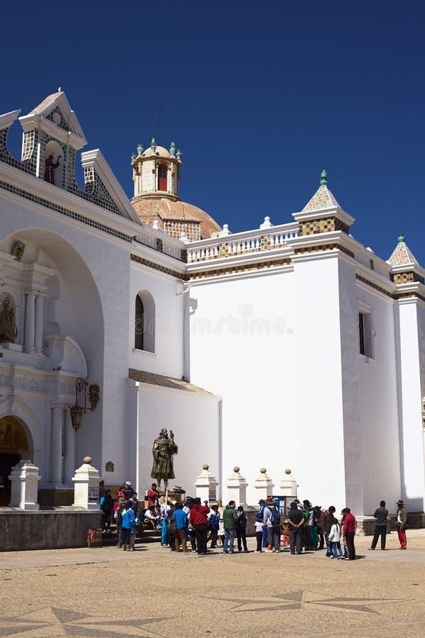 科帕卡巴纳,玻利维亚大教堂  免版税库存照片