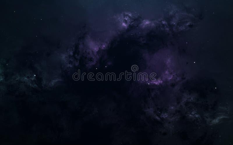 科幻空间墙纸,难以置信地美丽的行星,星系 美国航空航天局装备的这个图象的元素 免版税库存照片