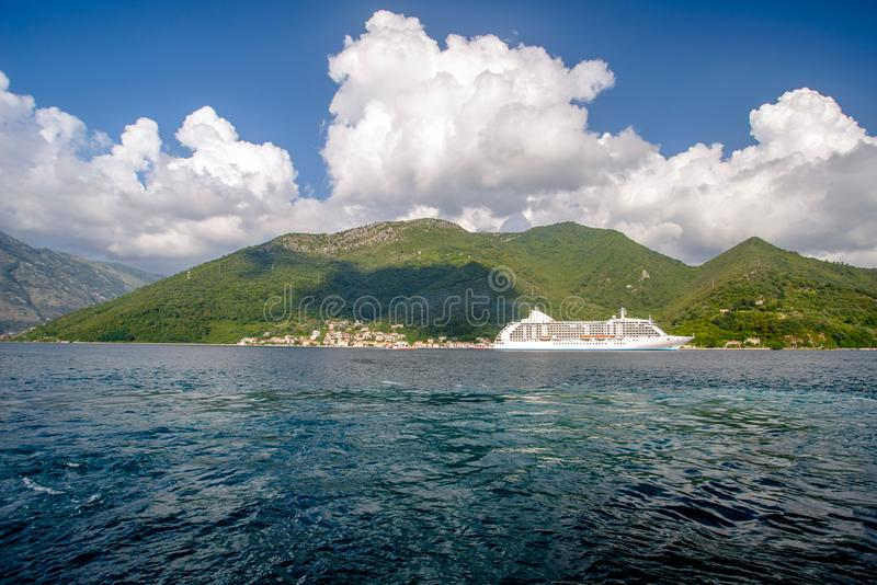 科托尔湾在黑山 库存照片