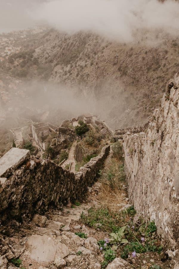 科托尔黑山奥尔德敦-图象 免版税库存照片