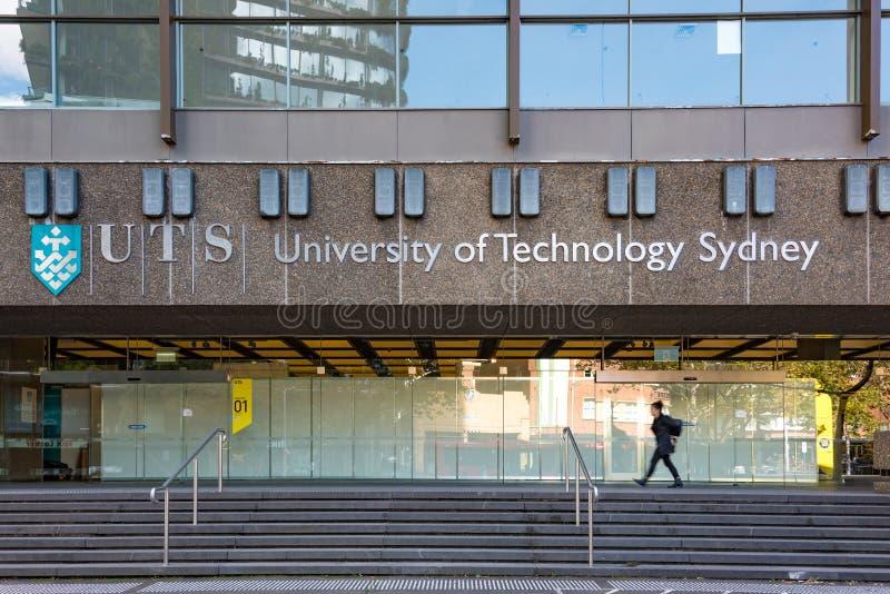 科技大学在上月的悉尼大厦 免版税库存照片