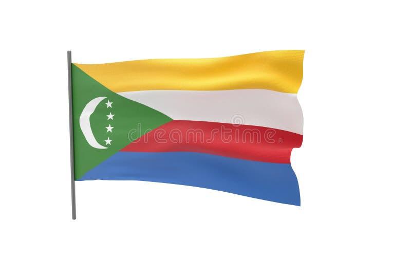 科摩罗的旗子 向量例证