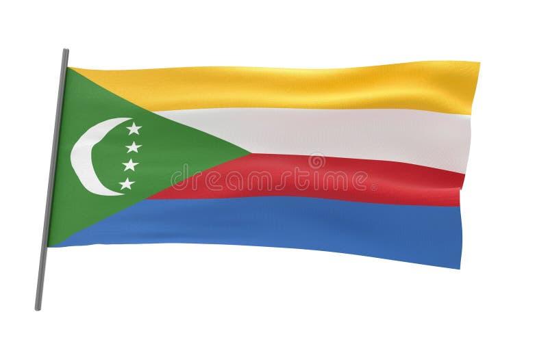 科摩罗的旗子 皇族释放例证
