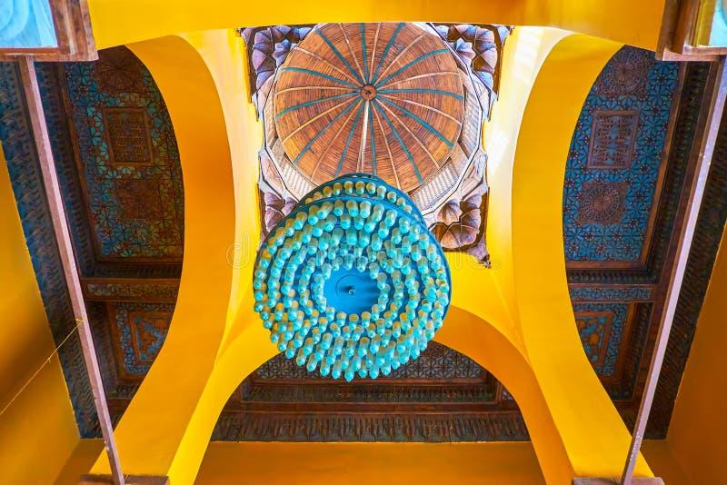 科普特人的博物馆,开罗,埃及内部  库存图片