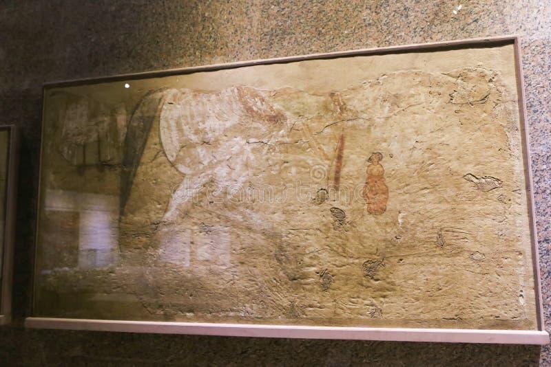 科普特人的在阿斯旺博物馆埃及的年龄古老古董 免版税库存图片