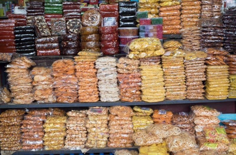 科泽科德印度- 7月27日:快餐摊位在科泽科德 科泽科德地方是大购物中心在2015年7月, 27日,印度的喀拉拉 免版税库存照片