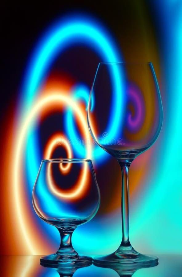 科涅克白兰地玻璃酒 图库摄影