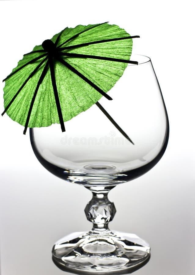 科涅克白兰地玻璃 库存图片