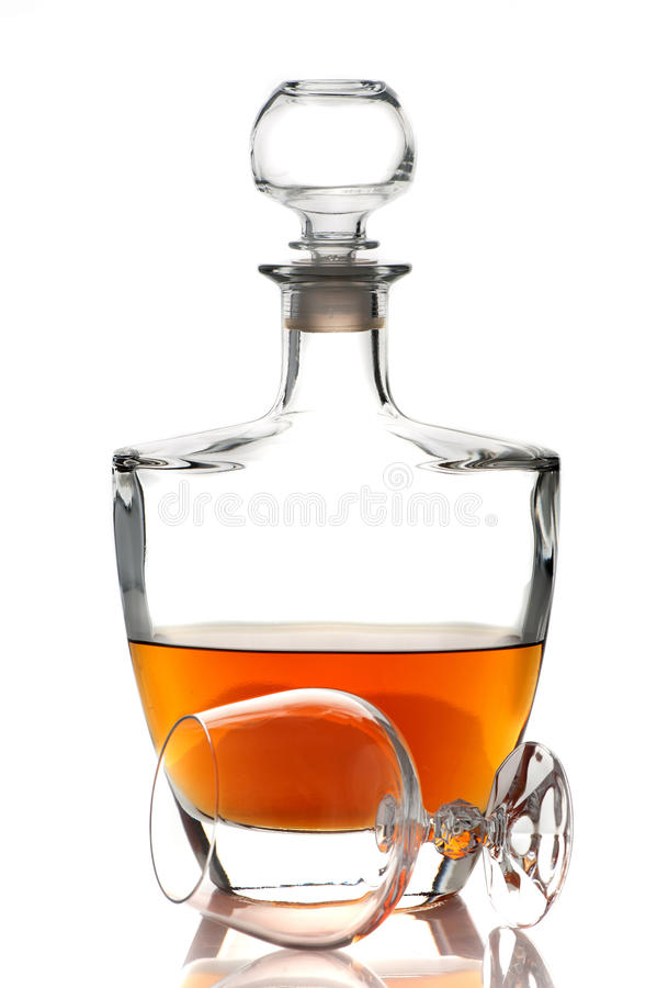 科涅克白兰地白兰地酒 免版税库存照片