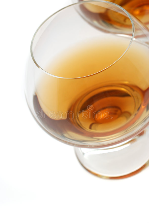 科涅克白兰地葡萄酒杯 库存图片