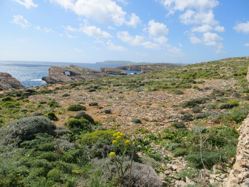 科米诺岛海岛风景 免版税库存照片