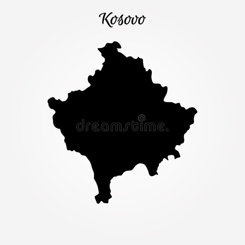 科索沃地图  库存例证