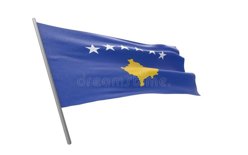 科索沃旗子  库存例证