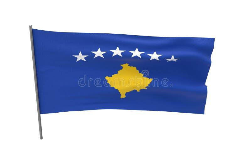 科索沃旗子  向量例证