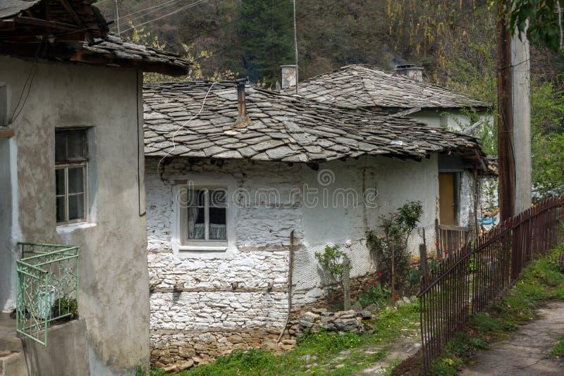 科索沃,保加利亚村庄有地道19世纪房子的 图库摄影