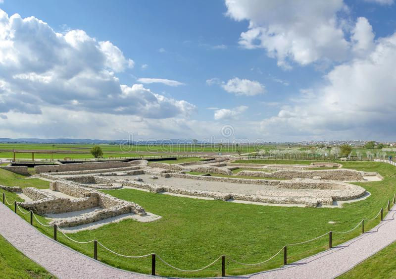 科索沃- Ulpiana -古老罗马城市 免版税图库摄影