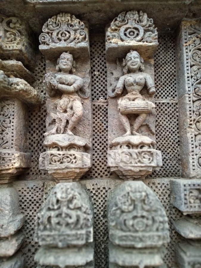 科纳克太阳神庙建筑师景色 免版税库存照片