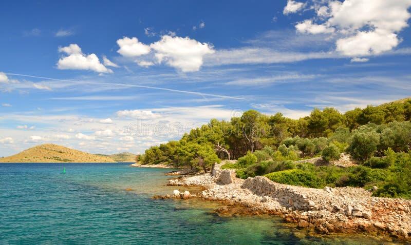 科纳提群岛海岛国家公园 克罗地亚 免版税图库摄影