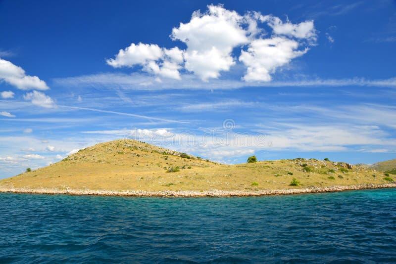 科纳提群岛海岛在亚得里亚海 r 图库摄影