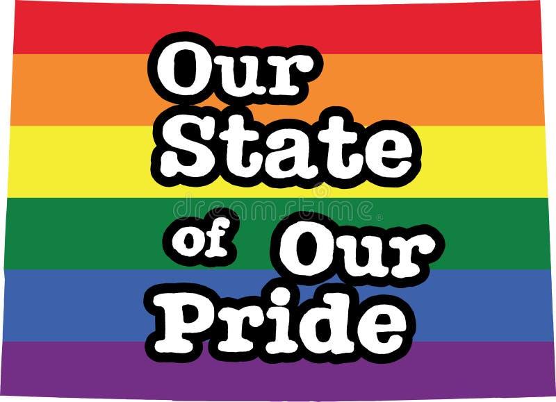 科罗拉多同性恋自豪日传染媒介状态标志 库存例证