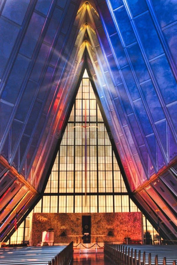 科罗拉多州美国空军学院教堂新教教堂 免版税库存照片