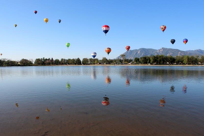 科罗拉多斯普林斯气球经典之作 免版税库存照片