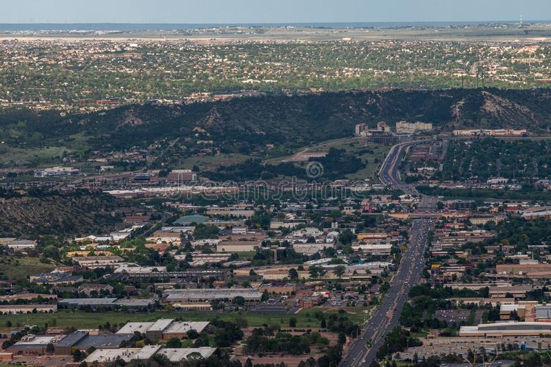 科罗拉多斯普林斯都市风景 免版税库存图片