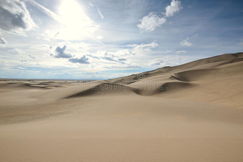 科罗拉多沙丘极大的国家公园沙子 免版税库存照片
