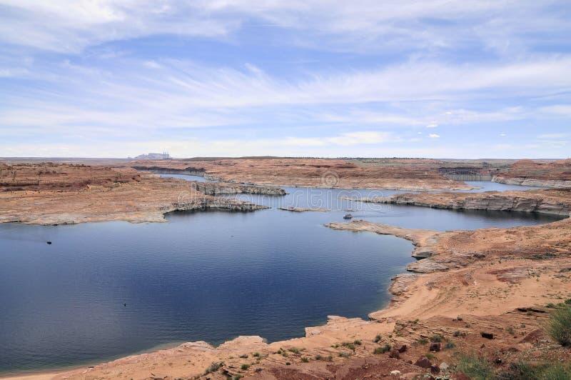科罗拉多河和湖鲍威尔 免版税库存照片