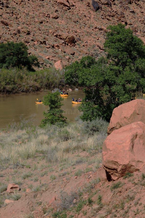 科罗拉多河的风景看法 库存图片