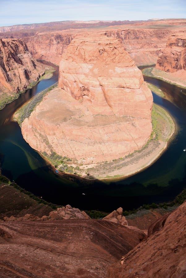 科罗拉多河的马掌弯 库存照片