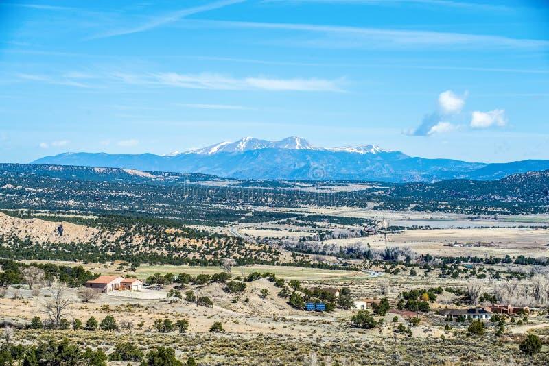 科罗拉多落矶山脉远景视图 免版税库存图片
