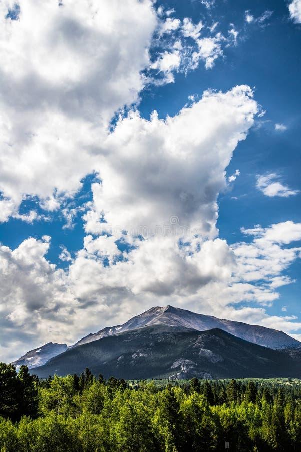 科罗拉多落矶山脉风景 免版税图库摄影