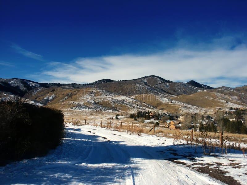 科罗拉多风景冬天 免版税库存照片