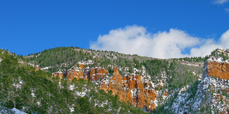 科罗拉多Glenwood峡谷  库存照片