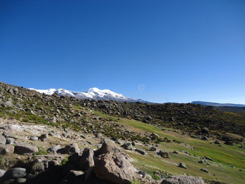 科罗普纳峰火山 免版税库存图片