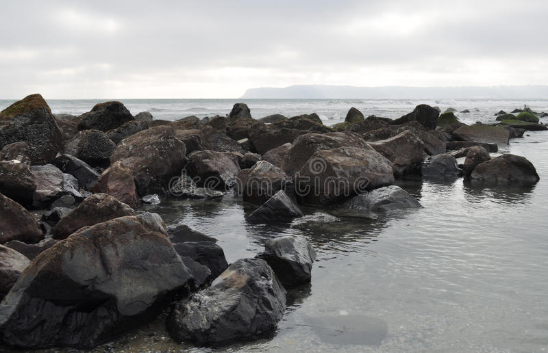 科罗纳多海岛岩石岸 免版税库存图片