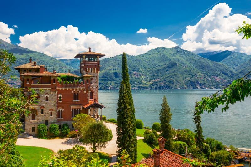 科莫湖,意大利,欧洲 别墅为影片场面使用了在电影 库存照片