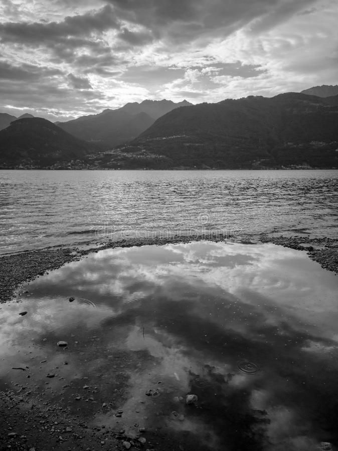 科莫湖,意大利 免版税图库摄影