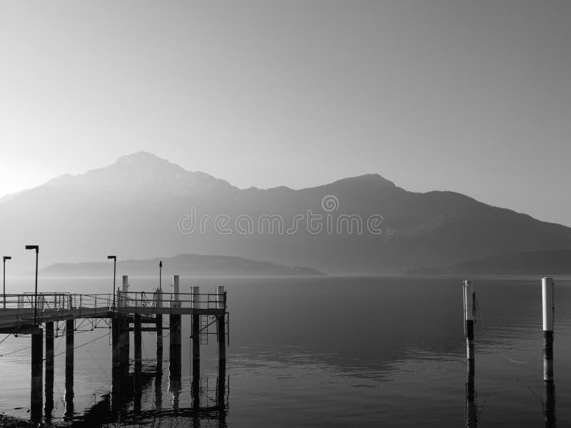 科莫湖,意大利 库存图片
