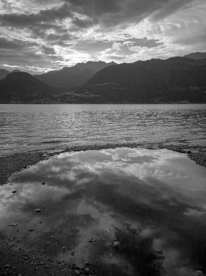 科莫湖,意大利 免版税库存图片
