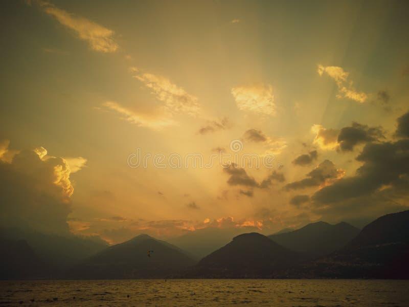 科莫湖,意大利 免版税库存照片